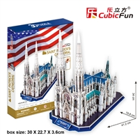 St.Patrick's Cathedral CubicFun MC103h 3D Puzzle 117 Pieces