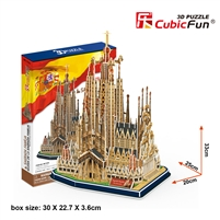Sagrada FamiIia CubicFun MC153h 3D Puzzle 194 Pieces